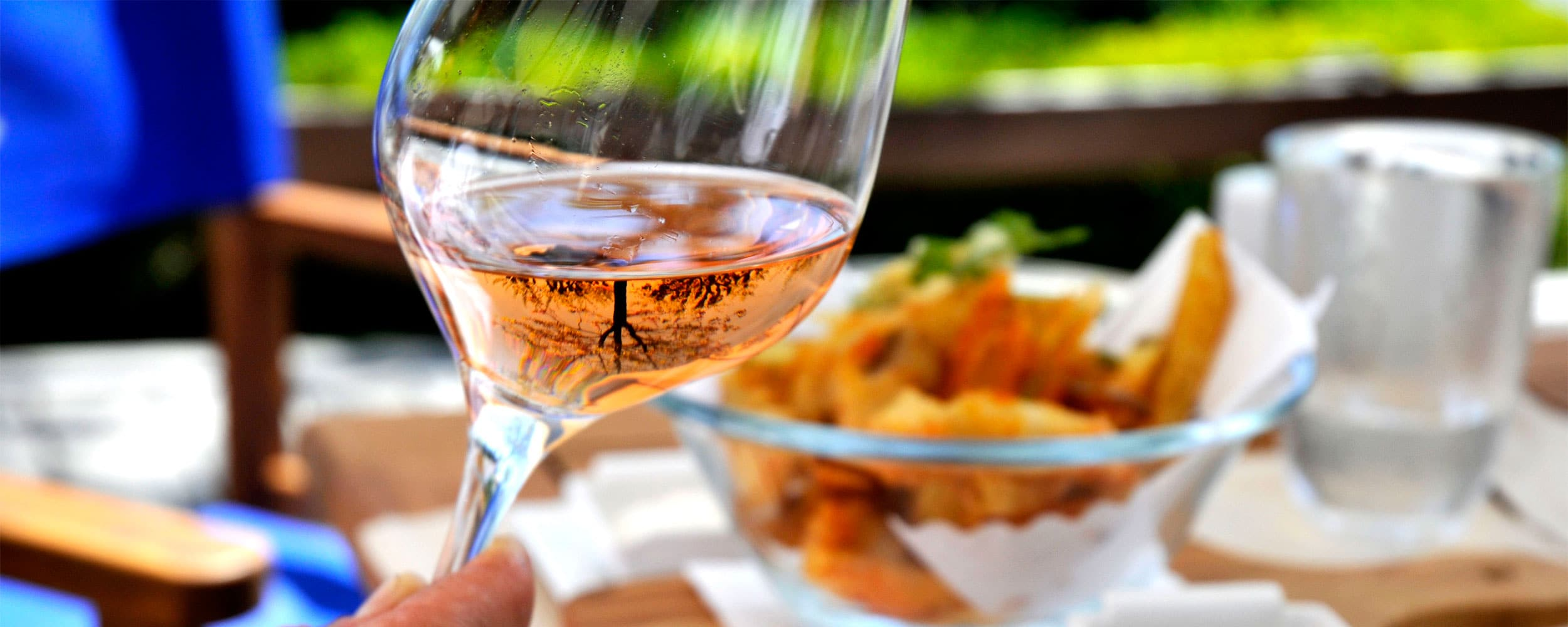 Provence Wine Tour - Rosé wine, food background