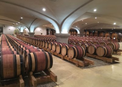 aging room private wine tours