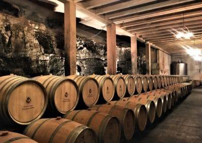 Provence Wine Tour - At Château Vignelaure, Coteaux d'Aix-en-Provence, the wine aging room 2880x2160