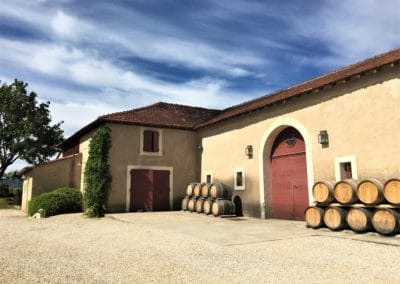 view of a wine estate in Luberon