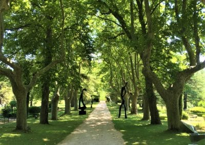 Provence Wine Tours - At Château Vignelaure, a path with sculptures from Yves Guerin
