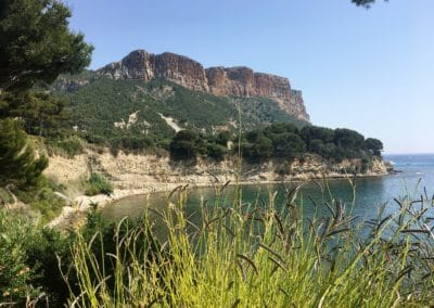 Provence Wine Tours - Cassis, Provence, seaview from vineyard