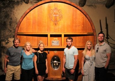 Provence Wine Tours - A family on a private wine tour at Châteauneuf-du-Pape