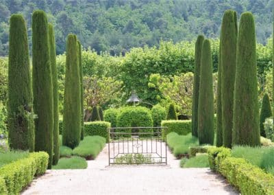 wine estate's garden in Luberon