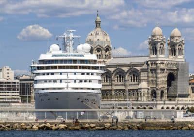 Cruise ship in Marseille