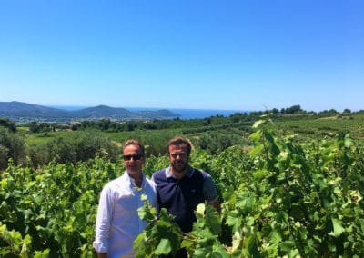 Provence Wine Tours - A host in Bandol, Provence, with a winemaker in his vineyard